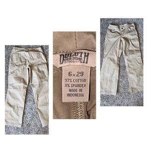 Duluth Trading khaki cargo pants 6x29